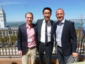 Moritz Luck, Dr.Rösler und Philipp bei Salesforce
