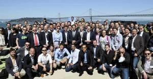 Die Delegation und andere Unternehmer, die die Gruppe begleiteten