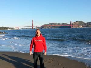 Großartiger Blick auf die Golden Gate Bridge am Mittwoch Morgen
