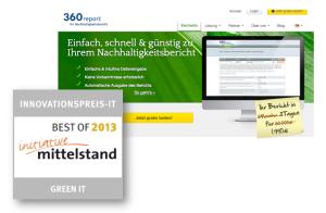 360report erhält den Innovationspreis-IT 2013