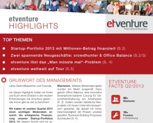 """""""etventure Highlights"""" Ausgabe 4 im neuen Design"""