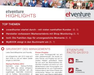 """Wir präsentieren Ausgabe 5 der """"etventure Highlights"""""""