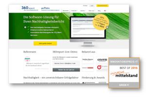 360report erhält zum zweiten Mal den Innovationspreis-IT