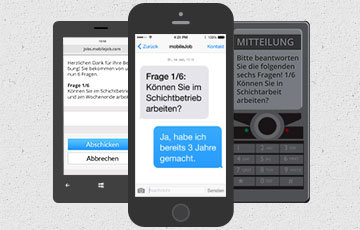 mobiljob bewerben via Handy/Smartphone