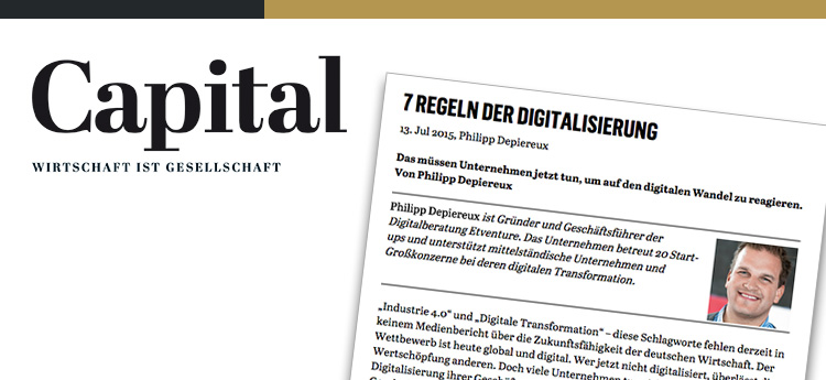 How does digitalization work, Mr Depiereux? Seven rules - Capital magazine