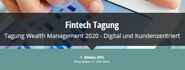 FintechStars Tagung - Wealth Management 2010