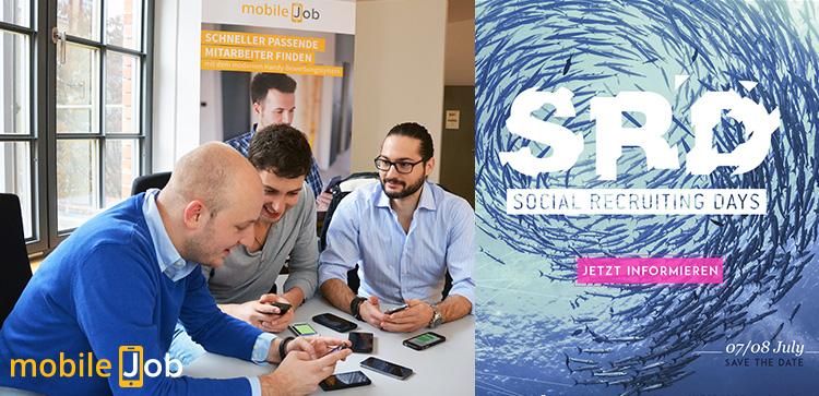 mobileJob.com auf den Social Recruiting Days in Berlin als bestes HR-Startup ausgezeichnet