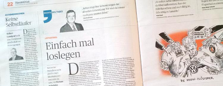 Konzerne müssen sich öffnen, wenn sie Start-up Flair ins Haus holen wollen. Als Beispiele dienen auch Klöckner und Wüstenrot & Württembergische (W&W), die etventure bei der Digitalisierung unterstützt.