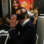 Alexander Franke, Geschäftsführer etventure business ignition, in der Achterbahn mit Tiffany Dao und Sarah Braig
