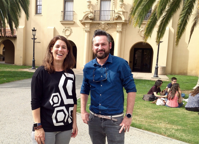 Birte Gall and Frederik Pferdt, Head of Innovation & Creativity Google. Desing Thinking is a cornerstone of innovation.
