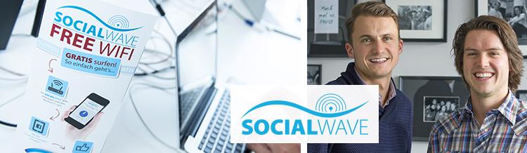 Socialwave bietet professionelle Hotspot-Lösung und Rechtssicherheit für öffentliches WLAN mit 1-Klick Login und Marketing-Insights