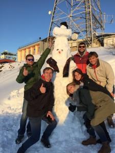 Schneemann-Bauen im etventure-Team