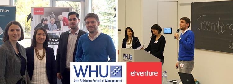 etventure beim WHU Founders Career Day