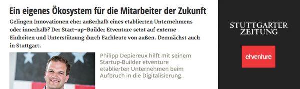 """""""Das Ländle hat's verstanden"""" sagt Philipp Depiereux im Gespräch mit der Stuttgarter Zeitung."""