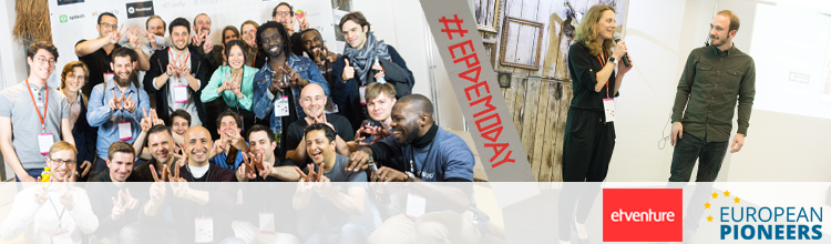 Beim DemoDay von EuropeanPioneers am 14. April präsentierten sich die 13 Startups der zweiten Förderrunde.