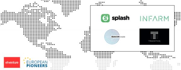 Vorstellung der Startups Splash, BEACONInside, INFARM und Tracktics