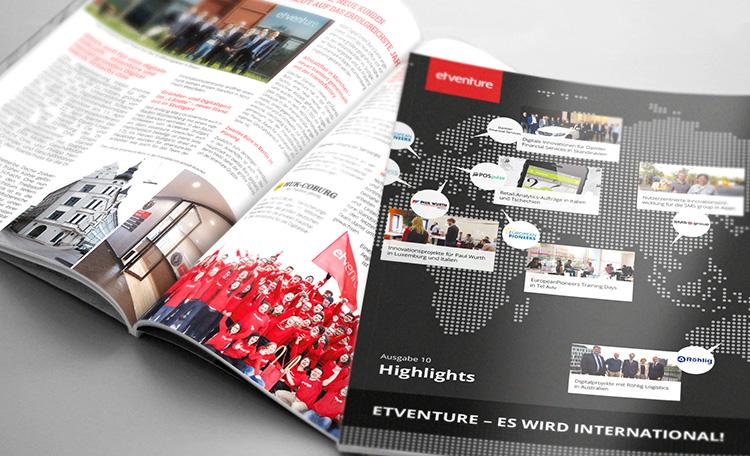 Die neue Ausgabe: Highlights #10 - etventure wird international