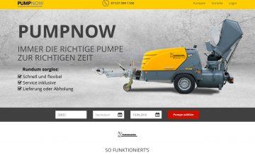 Die Online-Plattform PUMPNOW