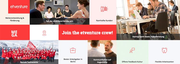 etventure Karriereseite