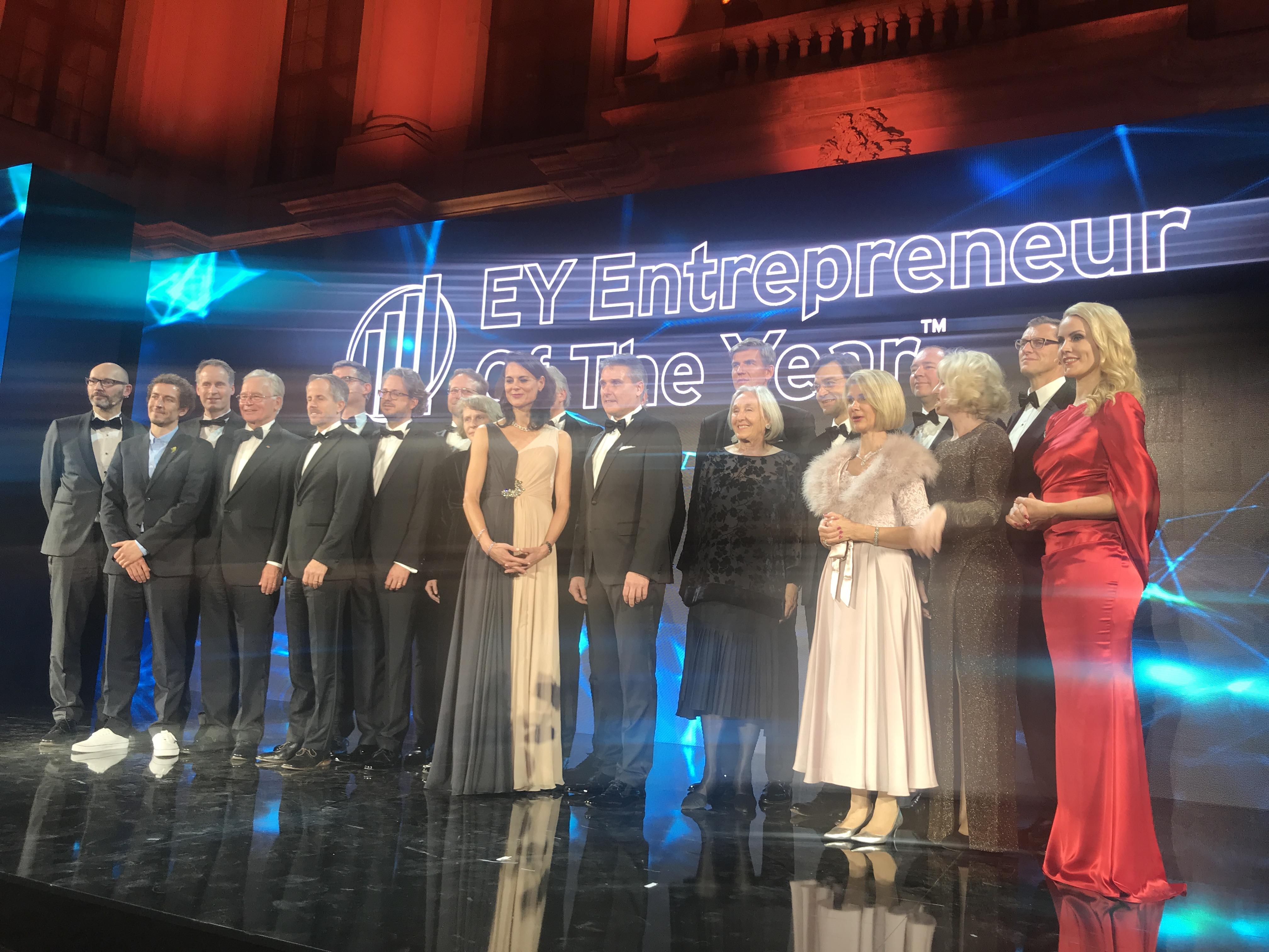 Die Preisträger bei der EY Entrepreneur of the Year Preisverleihung