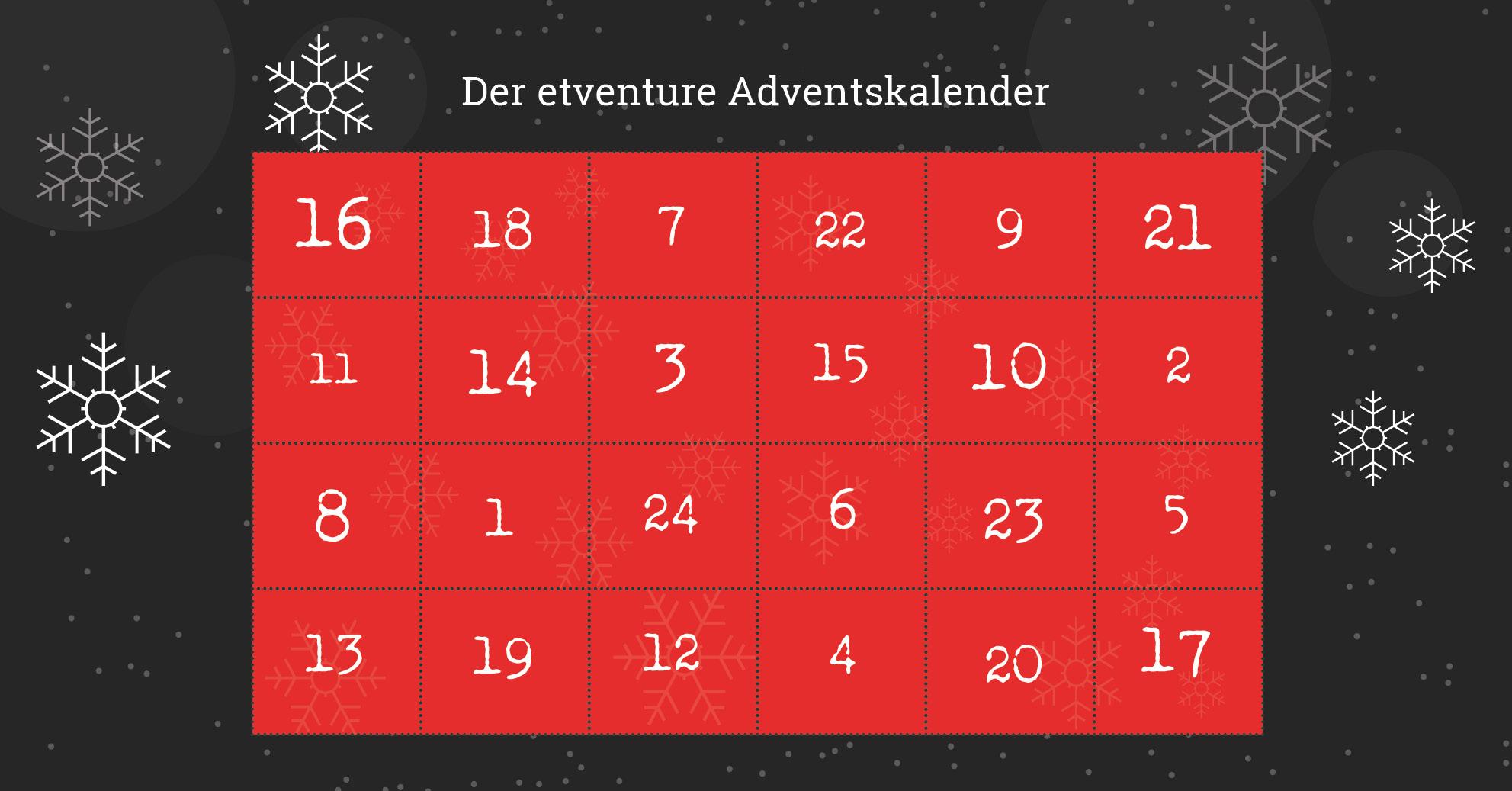 etventure Adventskalender 2017