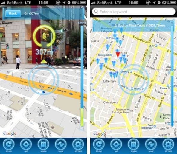 Screenshot AR-MAPS