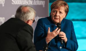 Angela Merkel beim SZ-Wirtschaftsgipfel
